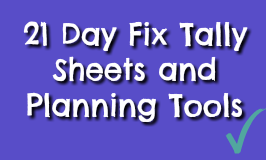 21 Day Fix Tally Sheets and Printables