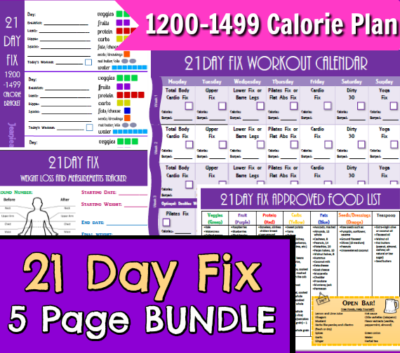 21 Day Fix Container Sizes and Portion Control Review