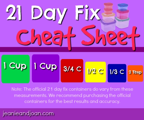 graphic relating to 21 Day Fix Workout Schedule Printable identified as 21 Working day Repair service Container Measurements and Taking in Software Advisor within Thing