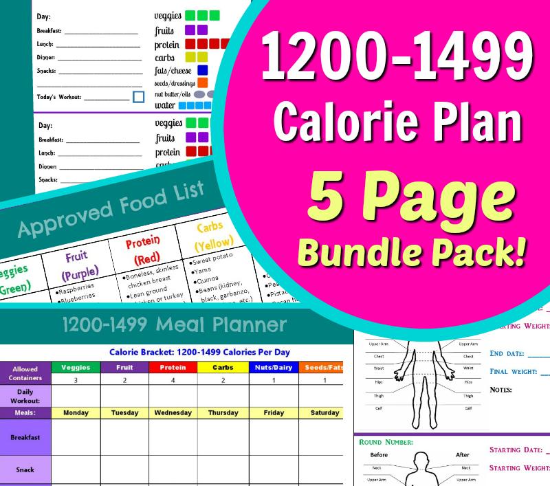 1200-1499-Calorie-Planner