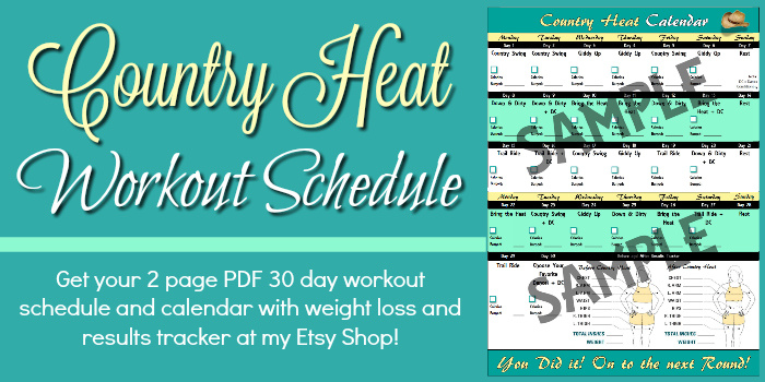 country heat workout calendar
