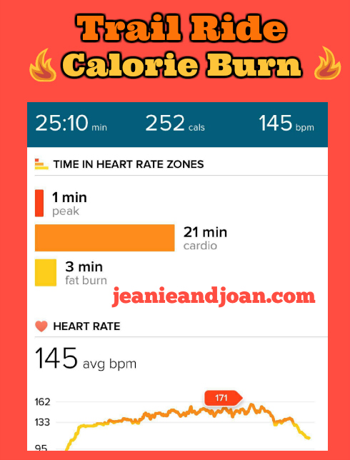 trail ride calories burned