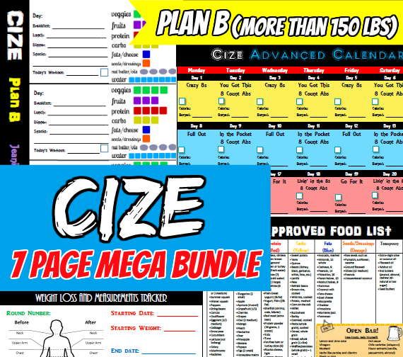 Plan B container worksheets