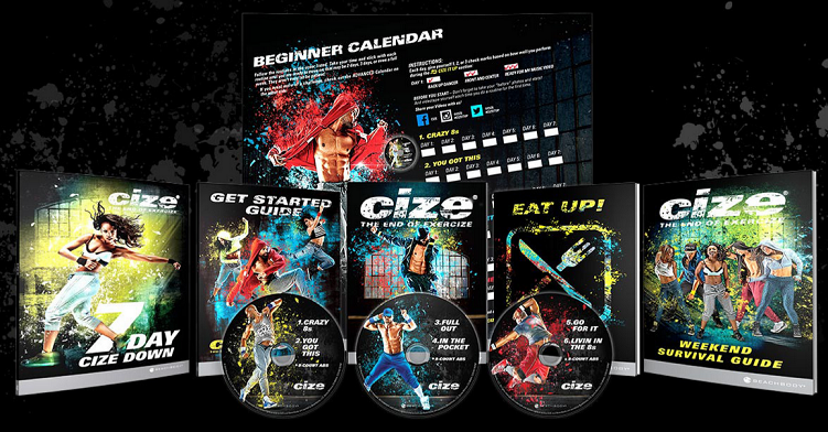 What's included in the cize workout program base kit