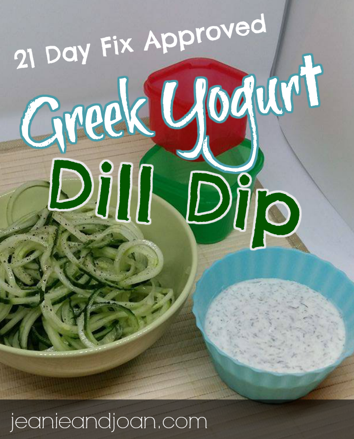21 Day Fix Dill Dip and Salad Dressing
