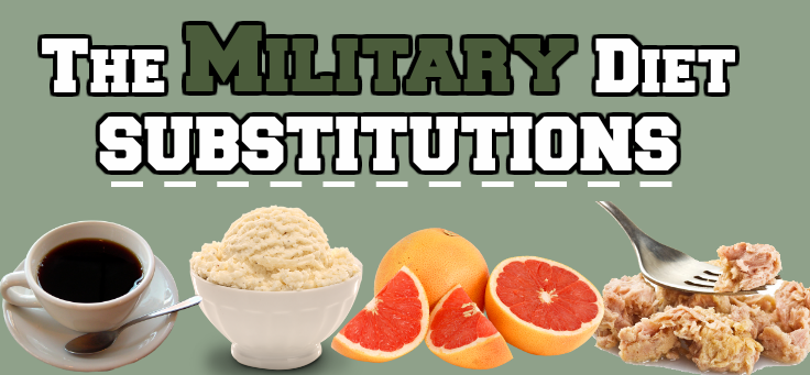 Military Diet Substitutions List