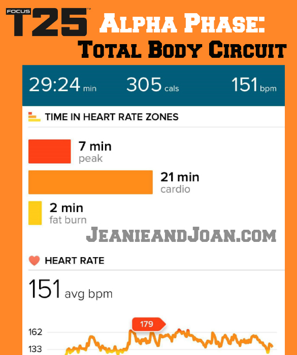 Alpha Total Body Circuit Calories Burned