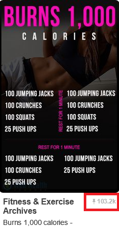 Burn 1,000 calories Pinterest Workout 1