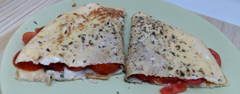 21 Day Fix Italian Style Cheese and Tomato Omelette Recipe