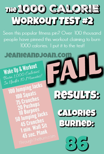 Pinterest 1000 calories burned test