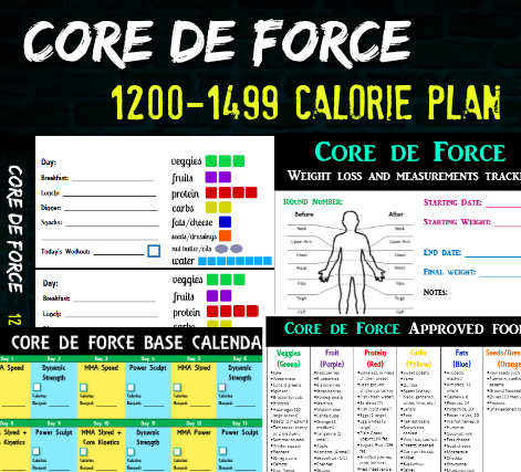 Core de Force 1200-1499 Eating Plan Bundle