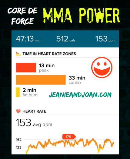 MMA Power 500 Calories Burned