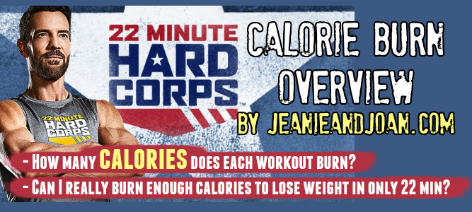 Calories Burned Doing 22 Minute Hard Corps