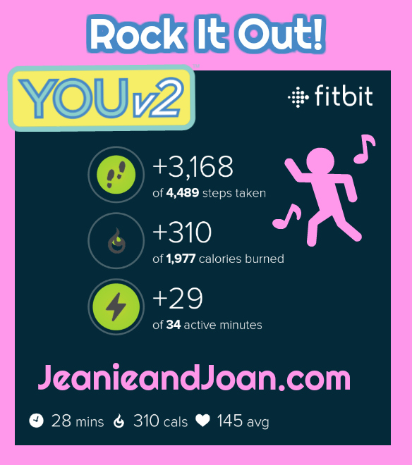 calories burned doing rock it out